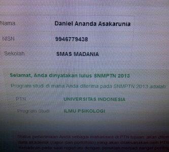 lulus tes SNMPTN2