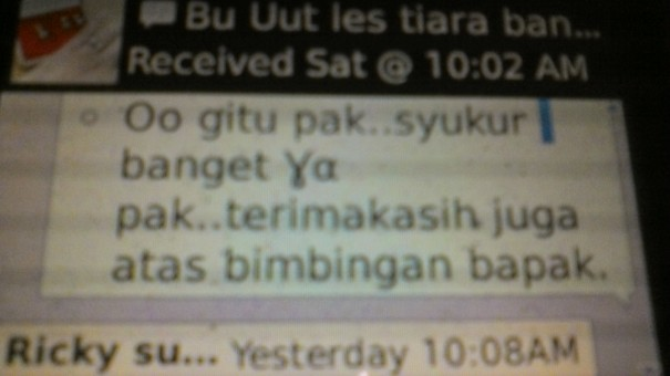 Testimonial Untuk Program Les International School Akong