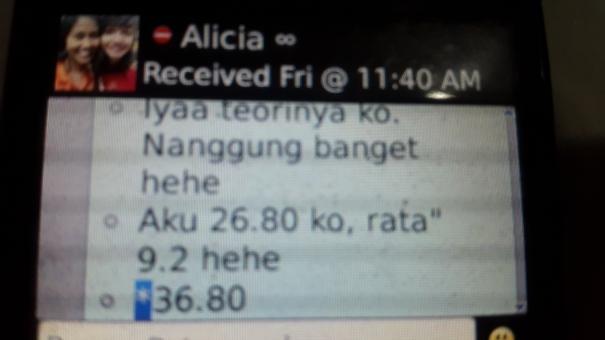 nilai ujian nasional alicia 97.5