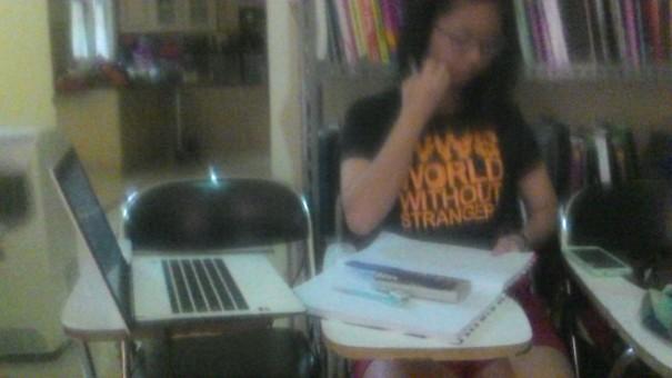 Siswa dari Singapore yang Les A Level untuk tes Agustus mendatang di Singapore