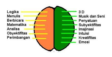 otak kiri dan otak kanan